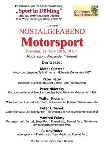Nostalgieabend Motorsport